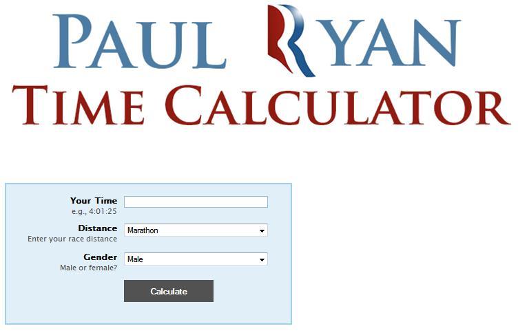 Paul Ryan Time Calculator