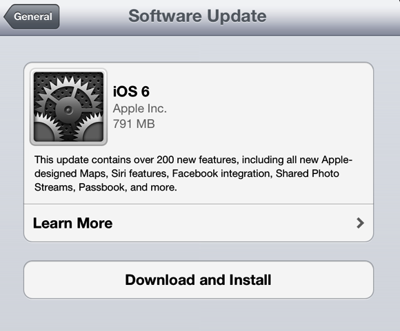 iOS 6 from Apple Is Available for Download on September 19