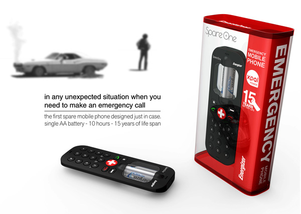 GearDiary Emergency Cell-Phone Lasts 10 Hours On A Single 'AA' Battery