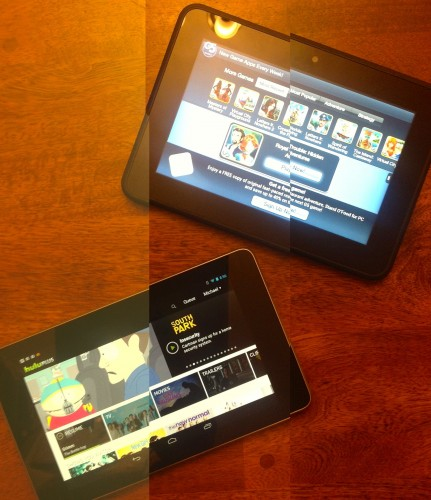 5 Reasons (Each) Why I Love the Nexus 7 and the Kindle Fire HD