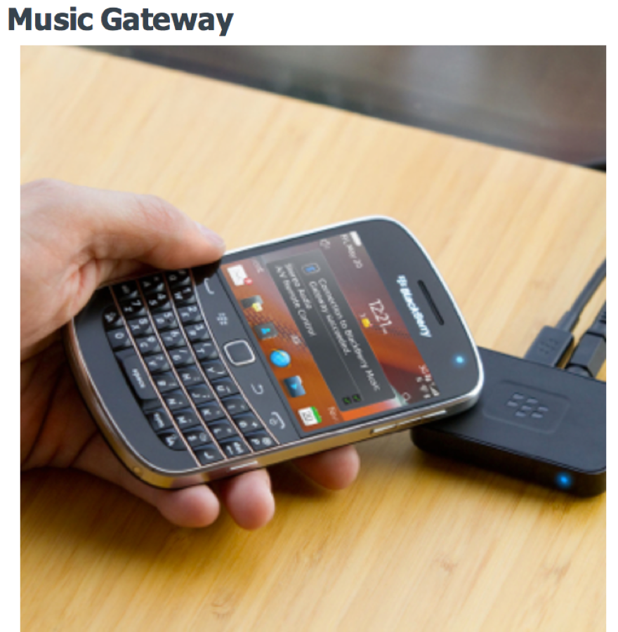 GearDiary BlackBerry Music Gateway Lets You Go Wireless with Bluetooth and NFC