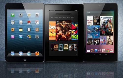 "Battle of the 7"" Tablets - iPad Mini vs Kindle Fire HD vs Nexus 7"