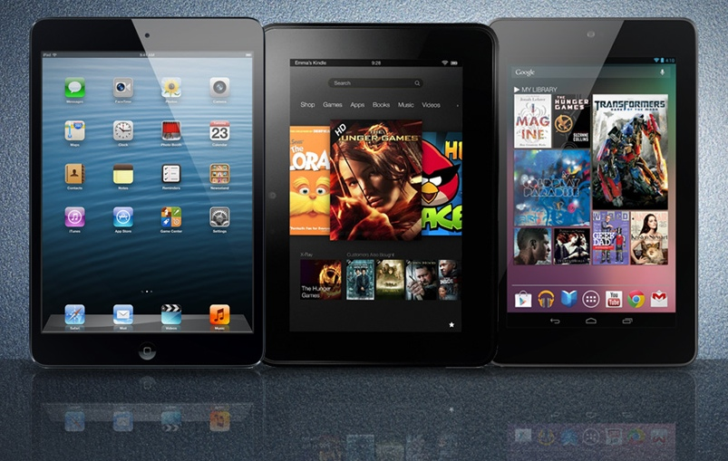 "GearDiary Battle of the 7"" Tablets - iPad Mini vs Kindle Fire HD vs Nexus 7"