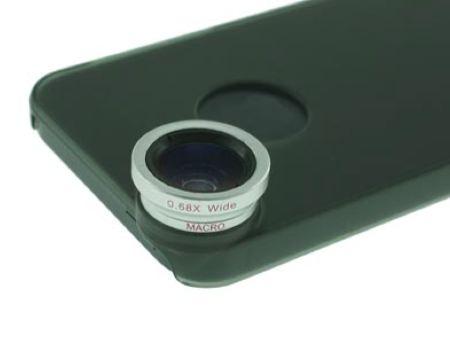 Fisheye + Wide Angle (+Macro) + 2X + 9X + 12X Telephoto Lens Combo for iPhone 5