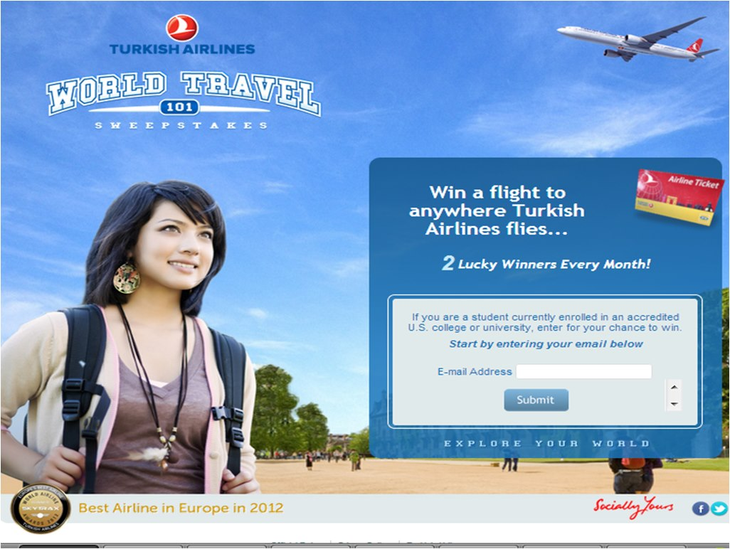 GearDiary College Students Have a Chance to Win a Free Round Trip Flight FromTurkish Airlines