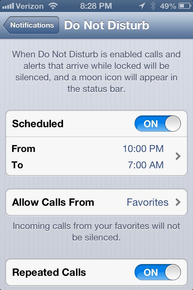GearDiary How to Maximize Do Not Disturb on iOS