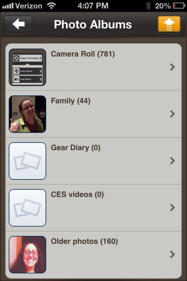 GearDiary Picashare Picasa Sync iOS App Review