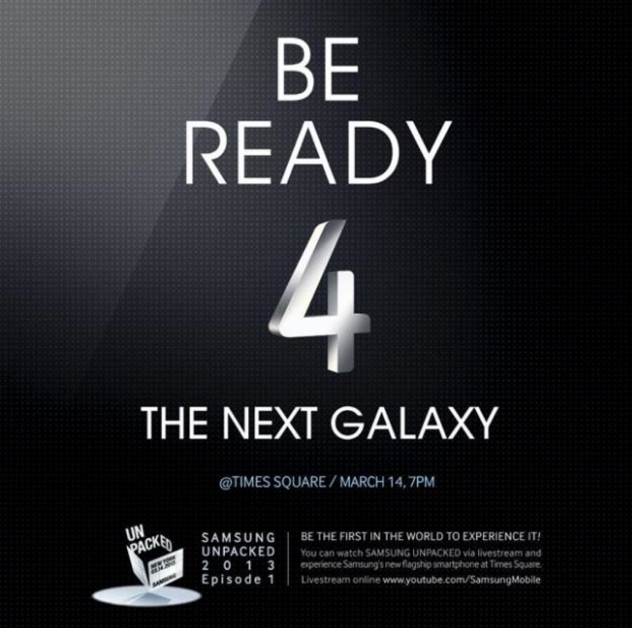 We'll Be Covering the Samsung GALAXY S4 Reveal Live This Evening