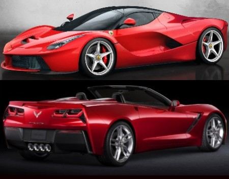 2014 Corvette Stingray Convertible and LaFerrari Dream Cars Unveiled at Geneva Motor Show