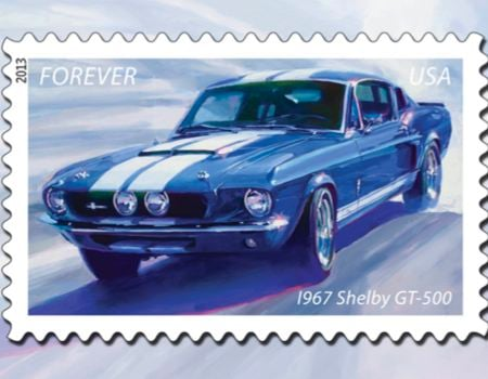 Muscle Car Stamp Images courtesy US Postal Service
