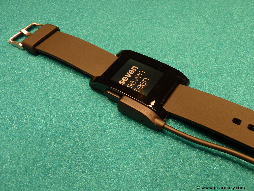 GearDiary Pebble E-Paper Watch for iPhone and Android Review