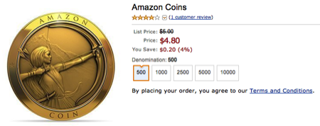 GearDiary Amazon Introduces Coins for Kindle Fire Users