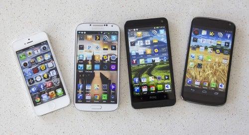 iPhone 5, Galaxy S 4, One, Nexus 4