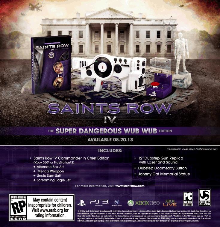 Saints Row IV Collector's Edition Announcement