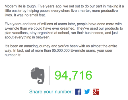Evernote Turns Five