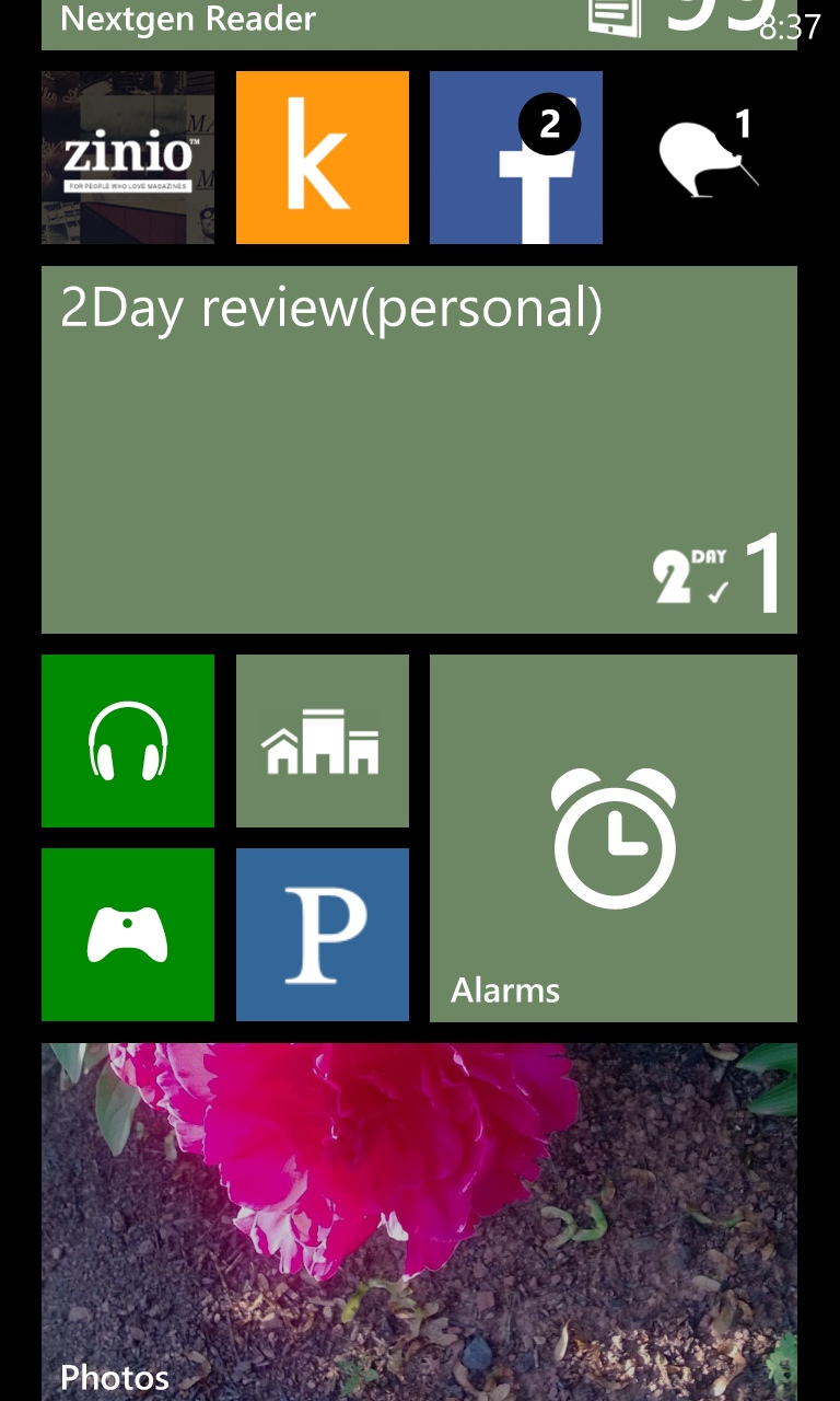2Day Tasks App for Windows Phone