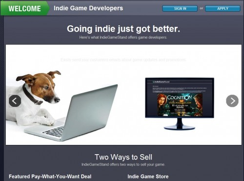 IndieGameStand Opens Up Indie Portal