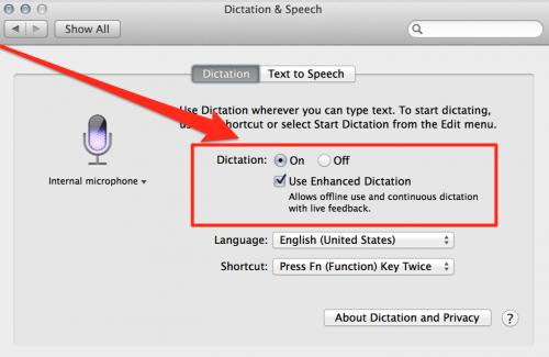 GearDiary OS X Mavericks Brings Enhanced Voice Recognition