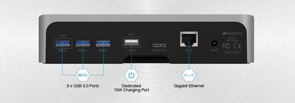 Kanex simpleDock 3 Port USB 3 0 Hub Gigabit Ethernet and Charging Station