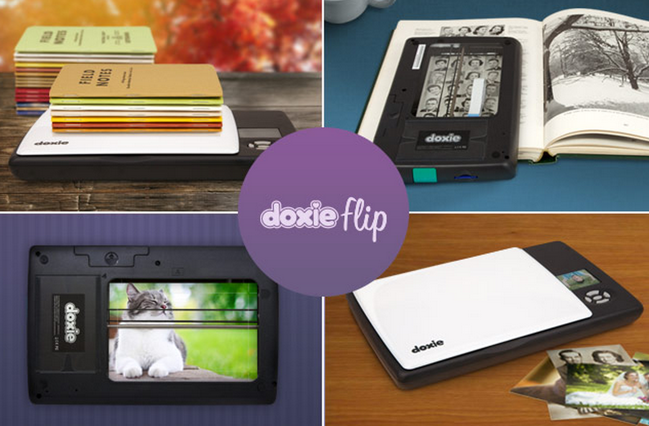 GearDiary Doxie Flip Is a New Battery Powered Mobile Scanner That Can Scan Anything and Everything