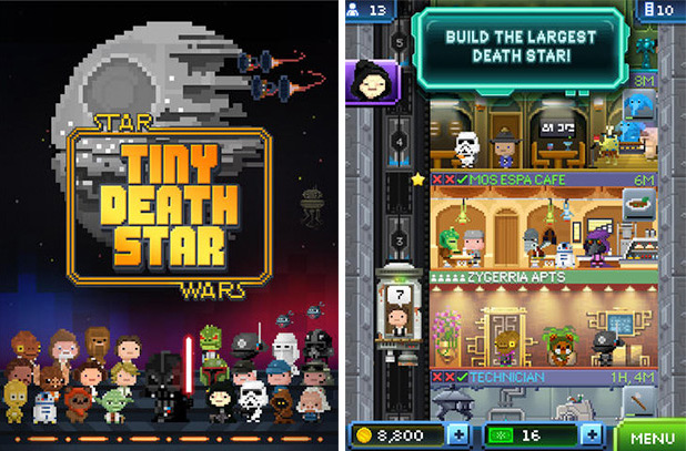 GearDiary Star Wars: Tiny Death Star Puts You in Charge of an 8-Bit Death Star in this Tiny Tower Remake