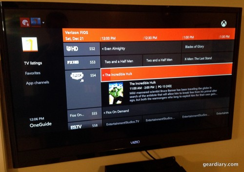 A look at the Xbox One's OneGuide.