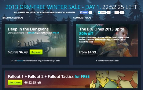 GOG DRM-Free Sale
