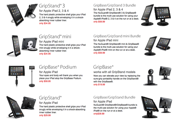 GearDiary NuGuard GripStand and GripBase Is Your iPad and iPad mini's Best Friend