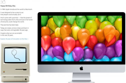 Apple Celebrates 30 Years Homepage