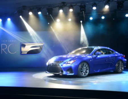 Day Two kicked off with the stunning debut of the 2015 Lexus RC F