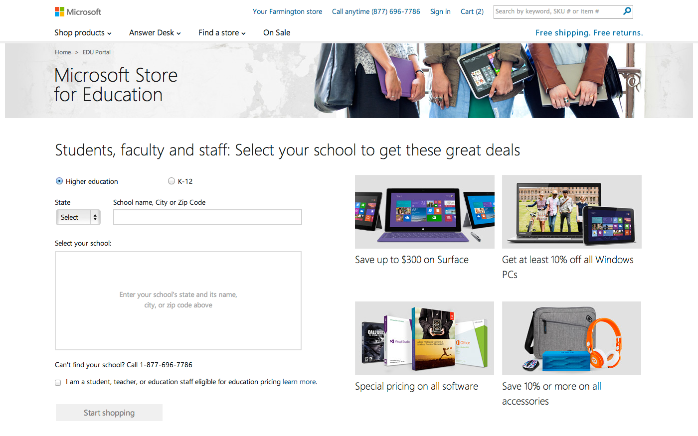 Microsoft Surface 2 Back in Stock Online at Microsoft Store