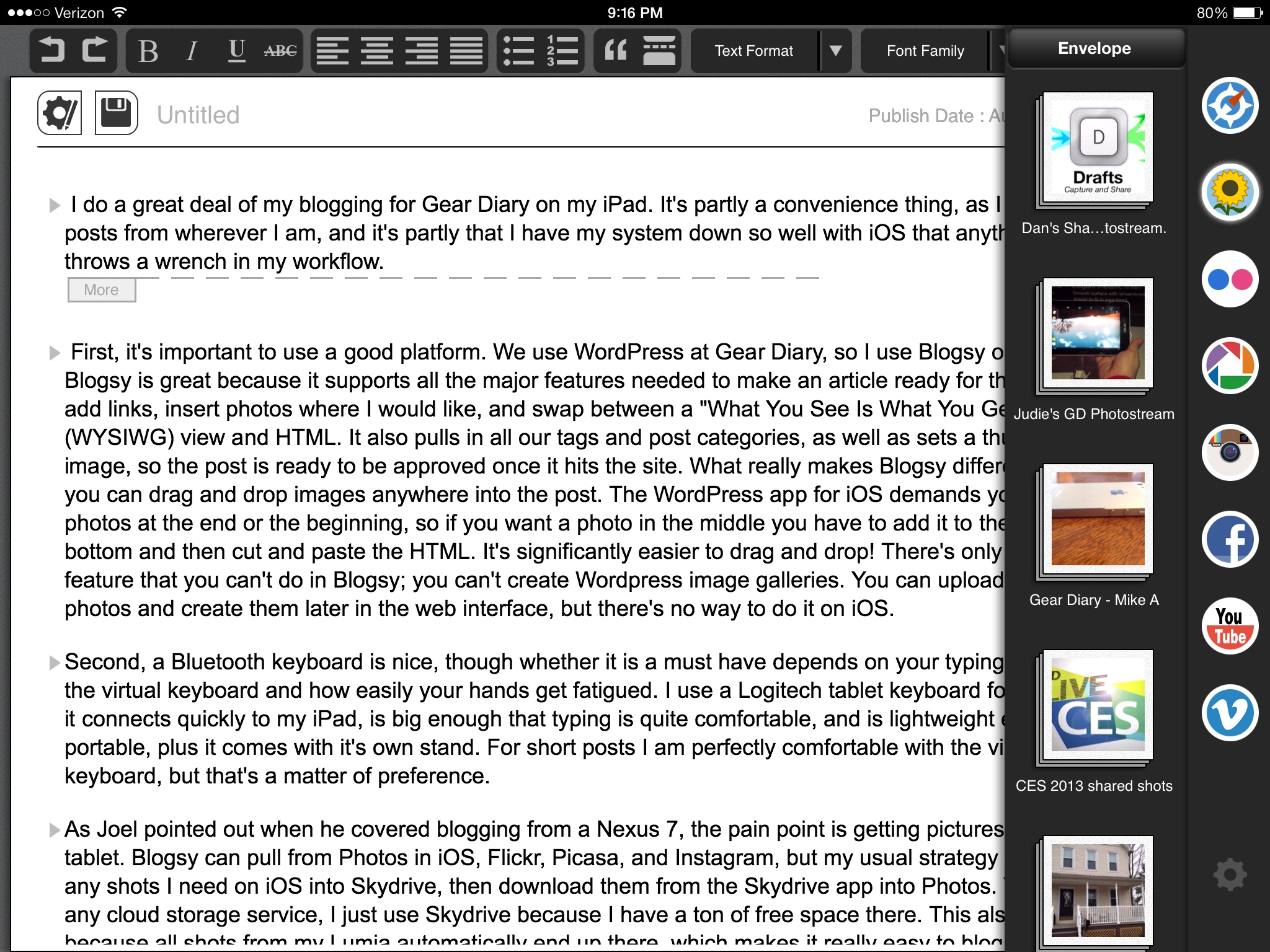 GearDiary How to Blog on an iPad and Have Fun Doing It!