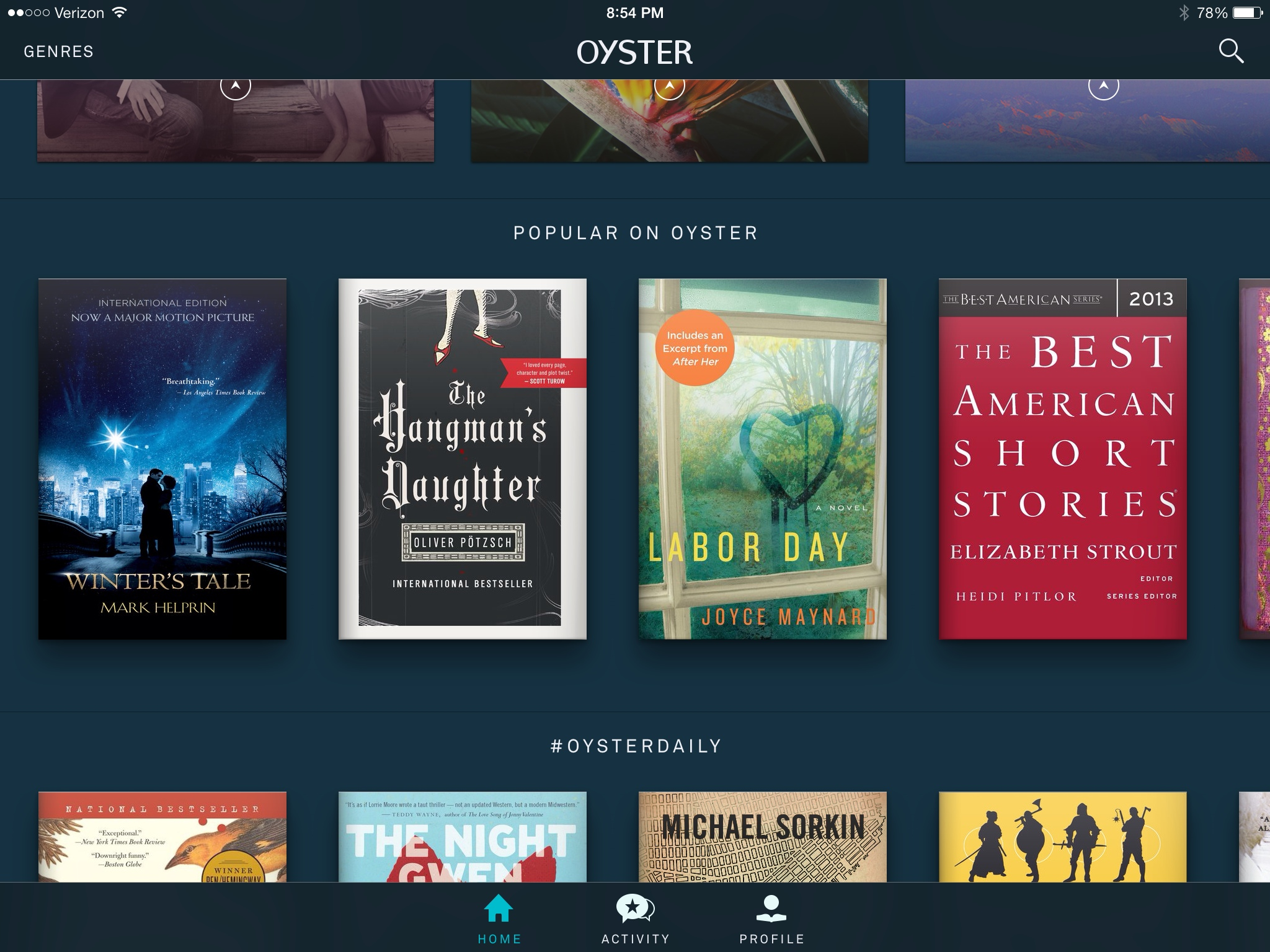 GearDiary Oyster Books Subscription eBook Service: Great Idea, Awful Execution