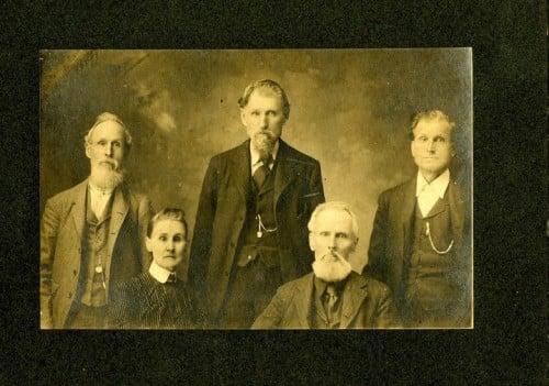 Nancy Graves Hendrick Rushing and her four sons: William Henry, John Bateman, Green Berry, and  Elijah James
