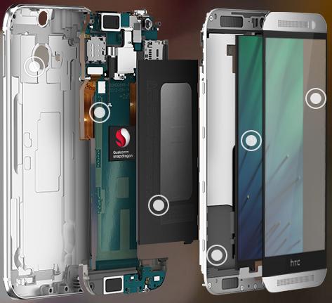 HTC One M8 internals