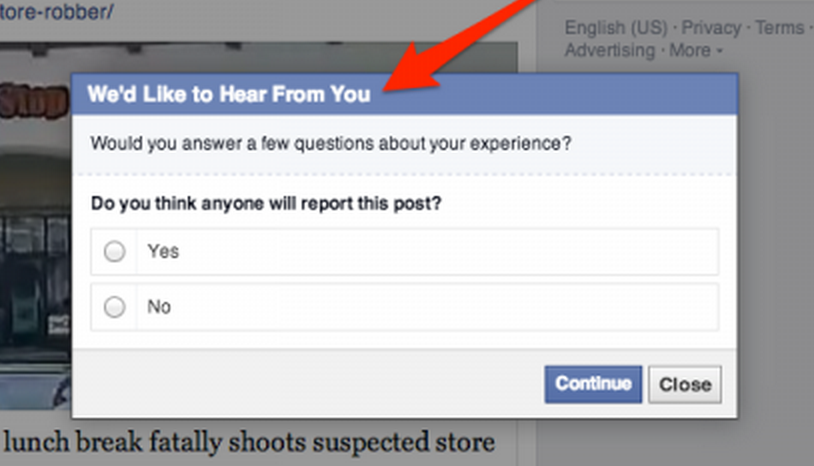 GearDiary Facebook Asks Whether You Think Your Post Will Get Reported or Not. What?!