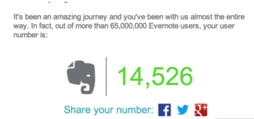 GearDiary Evernote Tops 100 Million Users! #Evernote