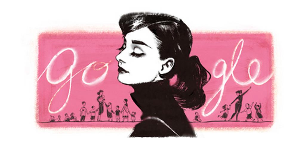 audrey hepburn google doodle
