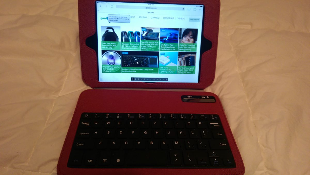 GearDiary Griffin Slim Keyboard Folio for the iPad Mini