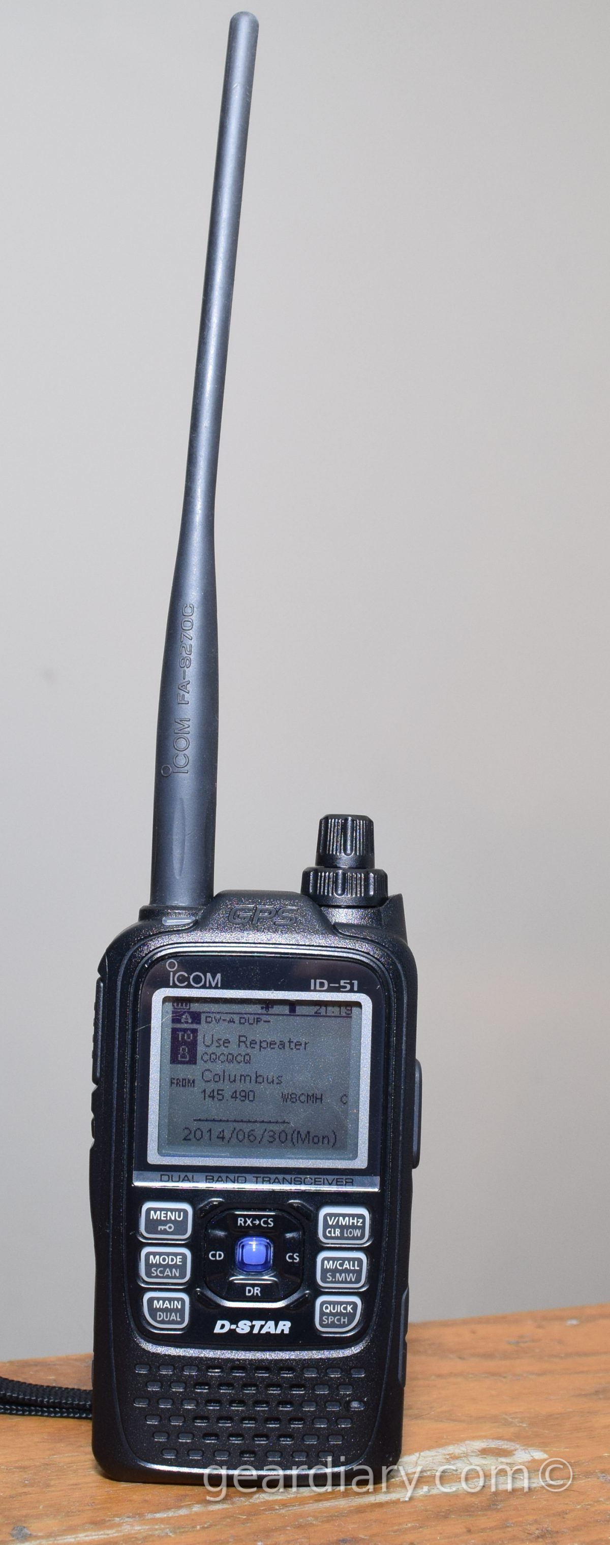 GearDiary Icom ID-51A D-star Radio Review
