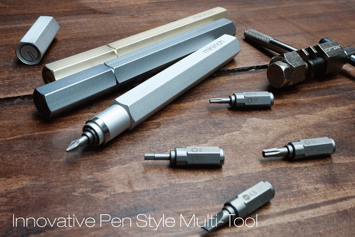 GearDiary The Tool Pen Has Ingenious Pop-a-Point Design - Puts 6 Tools in Your Pocket