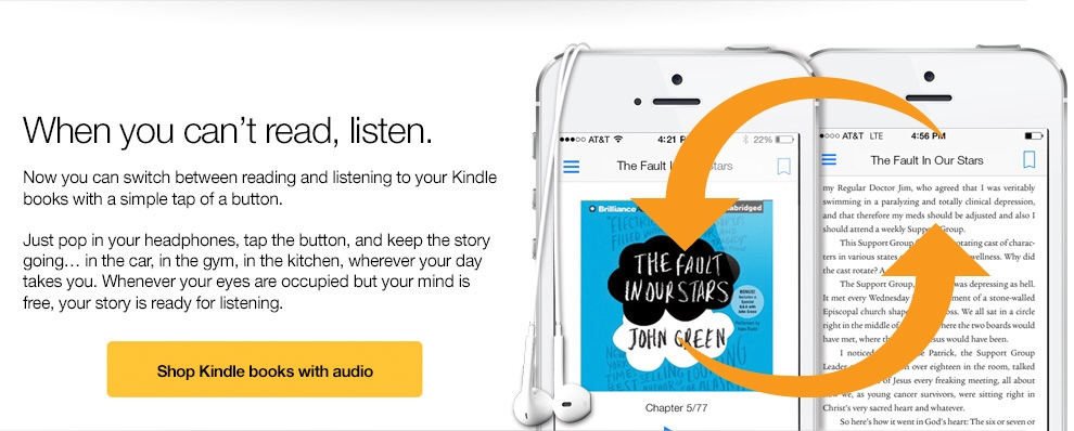 GearDiary Amazon's Whispersync for Voice Upgrades eBooks to Audiobooks