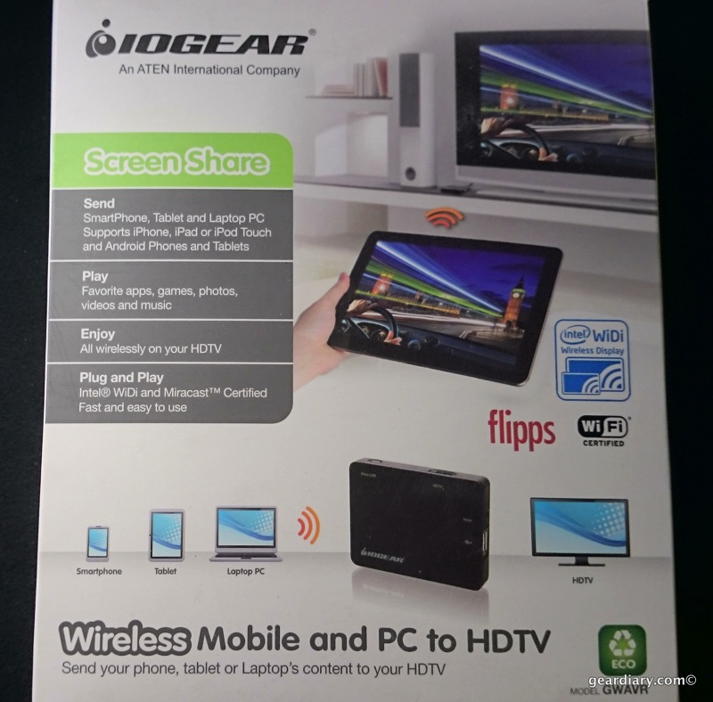 GearDiary IOGEAR Wireless Mobile and PC to HDTV With WiDi and Miracast Review
