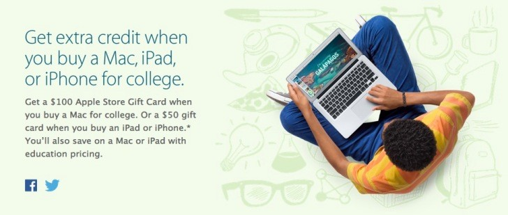 Apple Store Gift Card Deal for Back to School