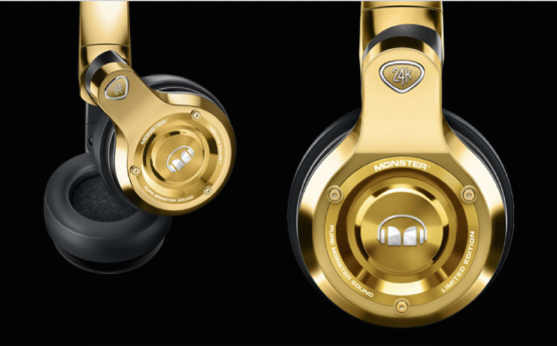 Monster 24k Over Ear Headphones Meek Mill