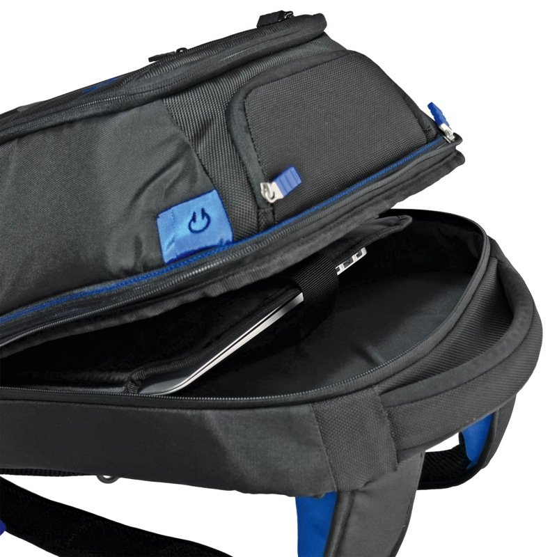 Energi backpack open tablet