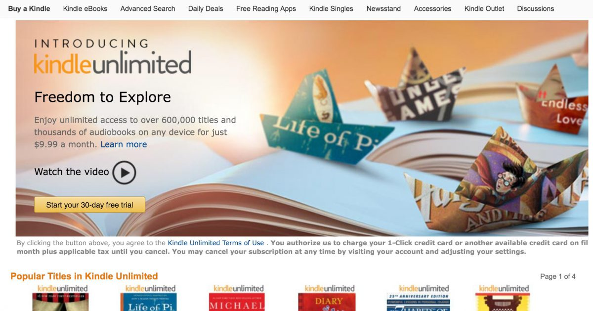 GearDiary Amazon Announces Kindle Unlimited