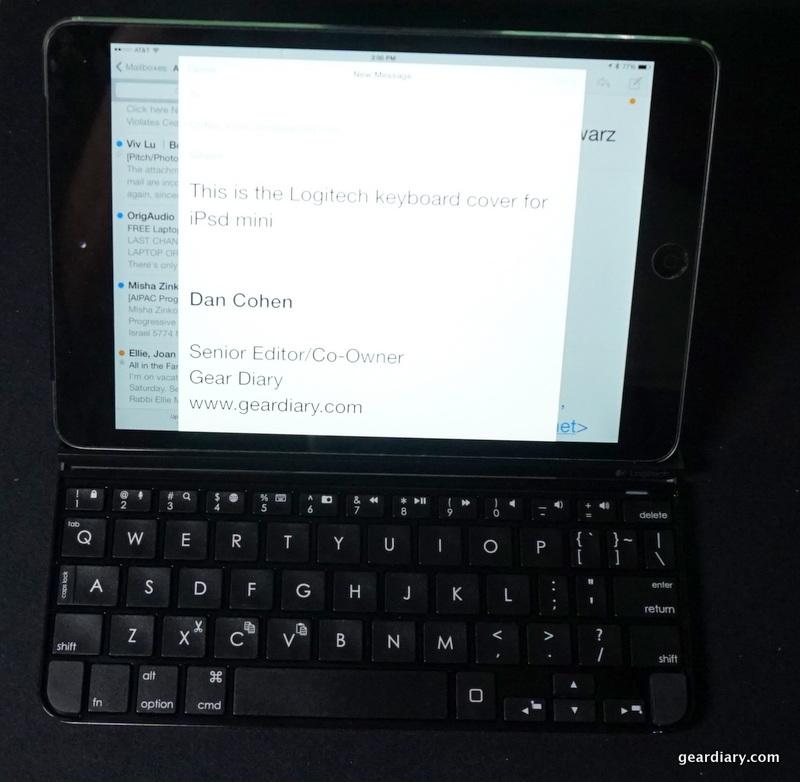 GearDiary Logitech Ultrathin Magnetic Clip-On Keyboard Cover for iPad Mini