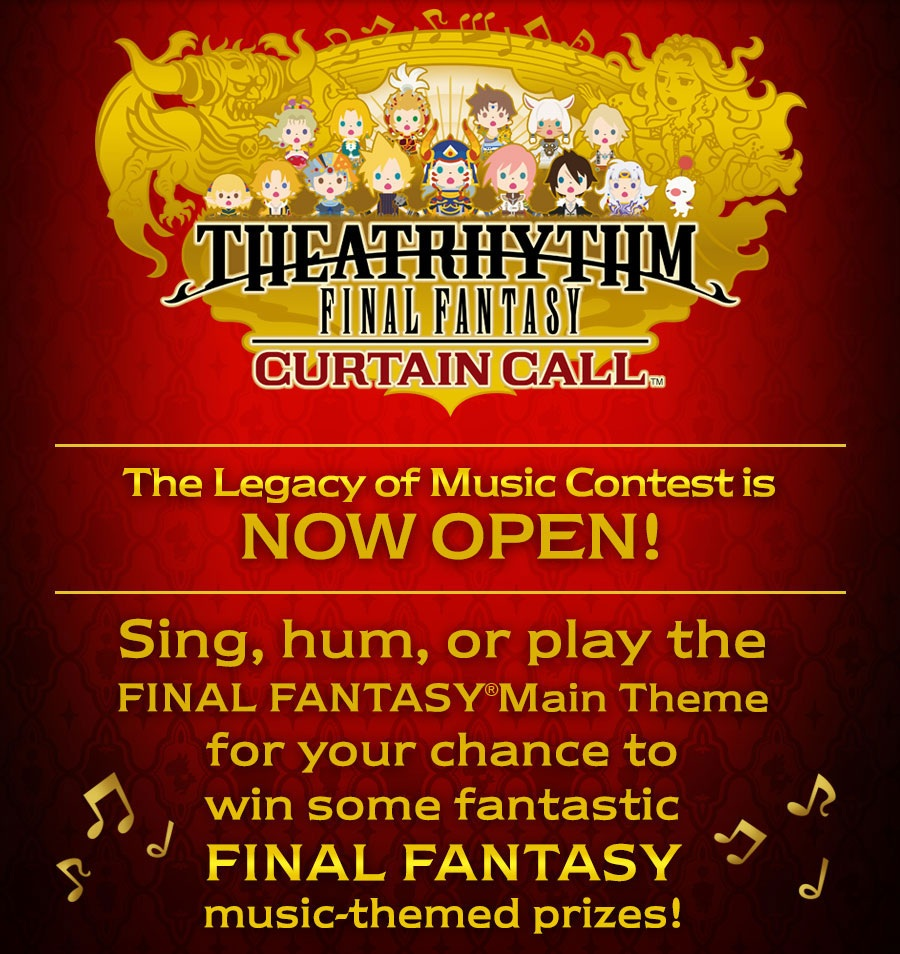 GearDiary Theatrhythm Curtain Call Contest Celebrates Final Fantasy Music