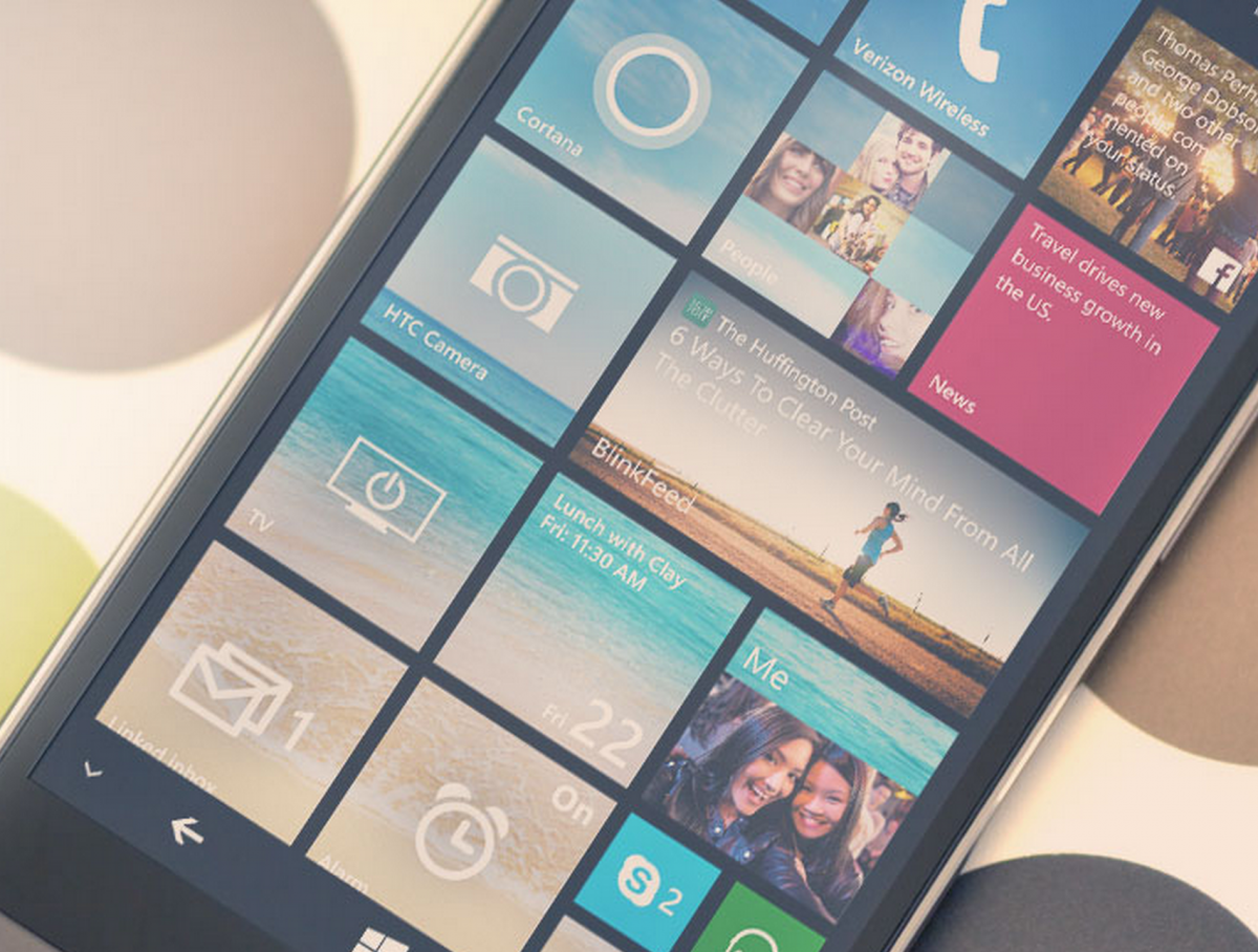 GearDiary Verizon Gets the HTC One (M8) for Windows: Live Tiles on a Former Android